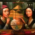 Secrets of night. Painting by Boris Shapiro, Israel