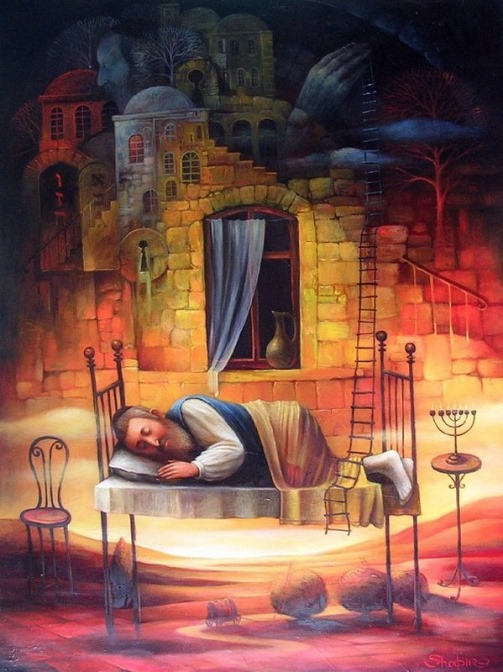 Sleeping in bed. 17th century people in portraits of Boris Shapiro, Israel
