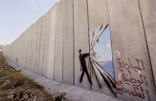 Palestine's Wall. Banksy's Environmental Message
