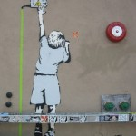 Reach for the Switch. Turn off the toxins. Banksy's Environmental Message