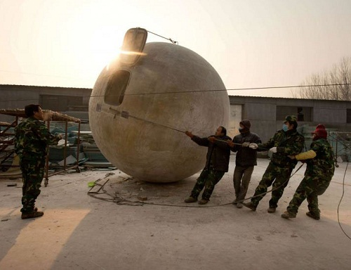 Rescue balls for Apocalypsis by Chinese farmer Liu Qiyuan