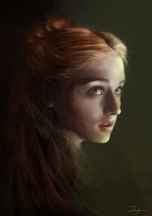 Sophie Turner as Sansa Stark , Game of Thrones fan art