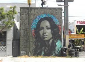 Street Art Mural by Elmac and Retna