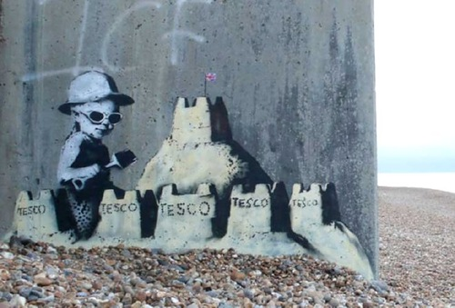 Tesco Sand Castles. Prophecy of Banksy