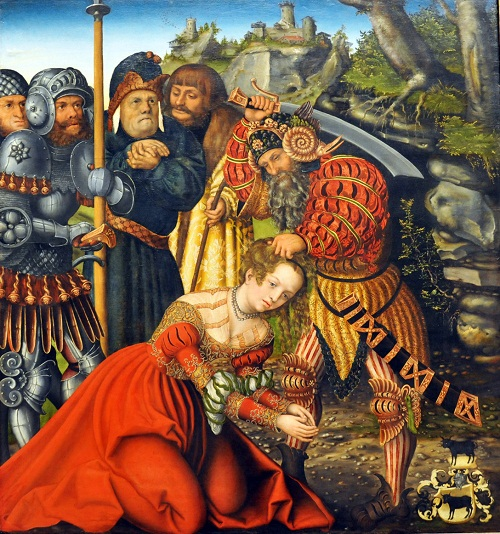 Saint Barbara in art. The Martyrdom of Saint Barbara by Lucas Cranach the Elder, c. 1510