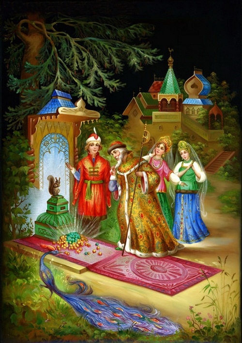 Fairy tales in Fedoskino miniature
