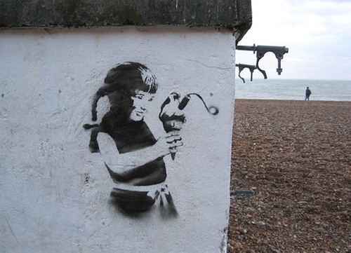 Time bomb – our children's future. Banksy's Environmental Message