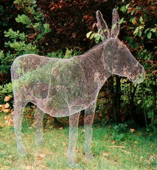 A donkey Transparent 3D sculpture