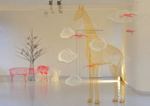 Animals Transparent 3D sculpture
