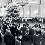 Black and white photo of USSR Kremlin tree, archive photo