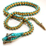Victorian Turquoise Snake Necklace-France, late 19 century