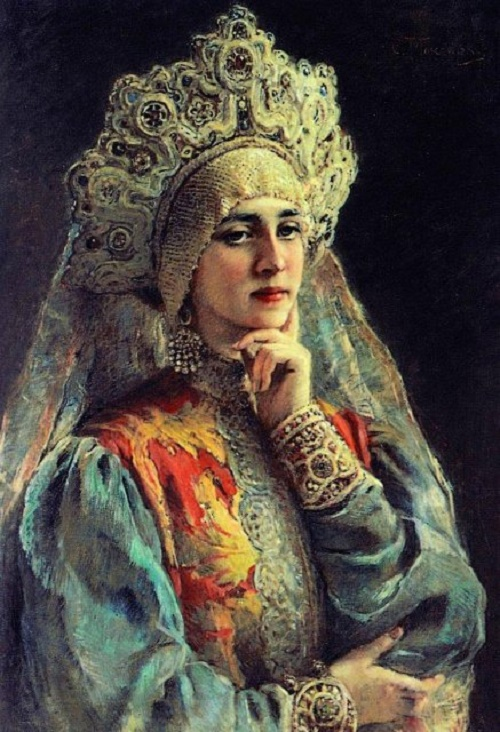 Beautiful female portraits by Konstantin Makovsky