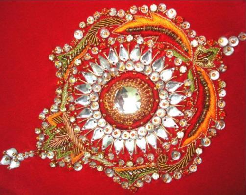 Example of Zardozi embroidery