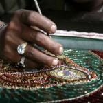 Creating Zardozi embroidery