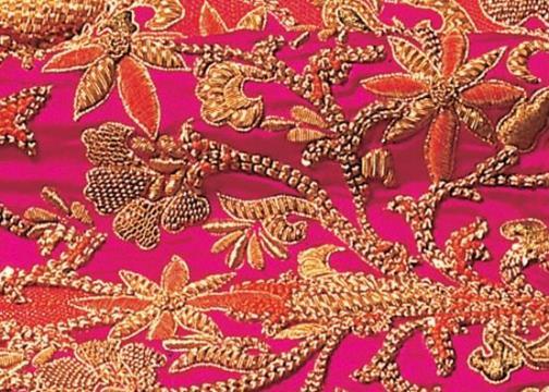 Fragment of Zardozi embroidery