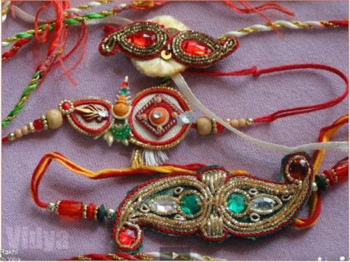 Accessories with Zardozi embroidery