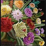 Beautiful bouquet, embroidery by Sheikh Shams Uddin