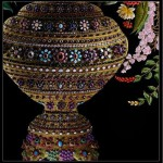 The vase, Bouquet, embroidery by Sheikh Shams Uddin