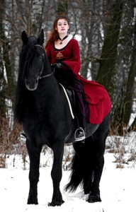 Horse and woman. Beautiful photography by Irina Bondarkova