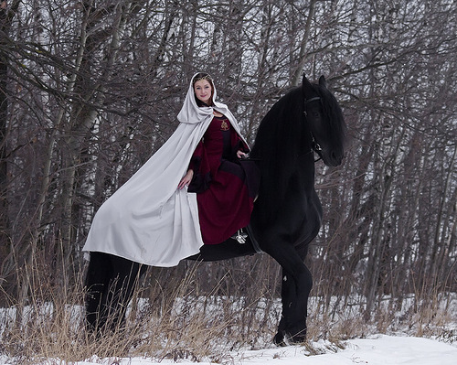 Woman and horse in photography by Irina Bondarkova