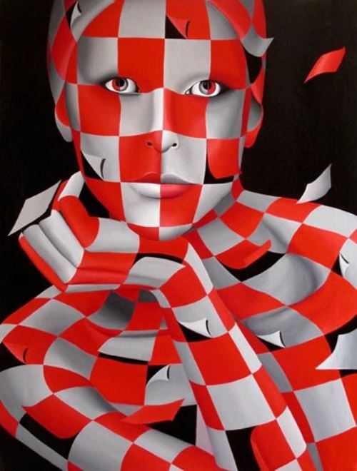 Untitled portrait. Shapes and colors paintings by Italian artist Danilo Martinis