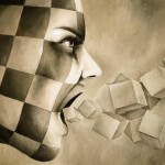 Cubes. 2011. Expressive paintings by Italian artist Danilo Martinis
