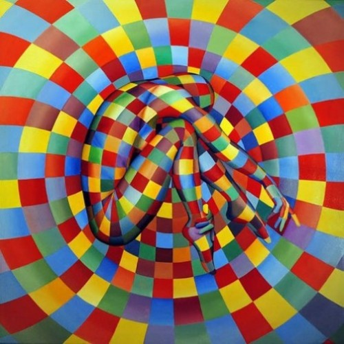 Rainbow colors. Expressive paintings by Italian artist Danilo Martinis
