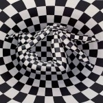 Black and white funnel. 2013. Oil on canvas paintings by Italian artist Danilo Martinis