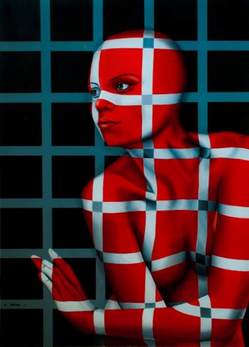 Behind the lattice. Expressive paintings by Italian artist Danilo Martinis