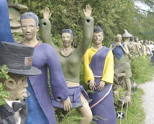 Creepy sculptures in Finland
