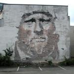 street art from London based artist Alexandre Farto aka Vhils