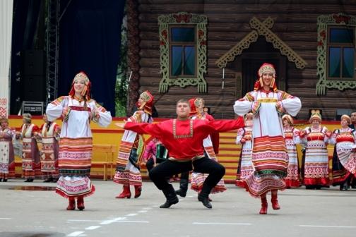 Folk festival in the village of Byzovoj, Pechora district of the Komi Republic