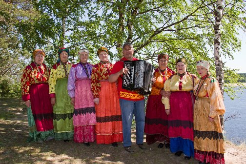 Local residents of the village of Byzovoj, Pechora district of the Komi Republic, The celebration of national holidays