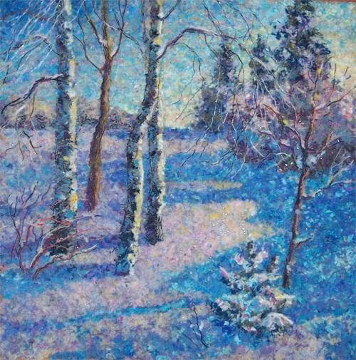 Wool painting by Lyubov Khitkova