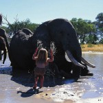 Girl Tippi and her wild animals