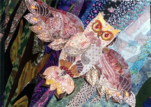Textile collage by Valentina Maximova