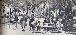 At the playground there were always a lot of kids and moms. Now in city parks there are only men