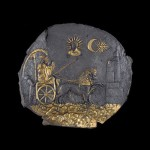 Bowl for ceremonies, which depicts the goddess Cybele of gilded silver