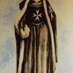 Olga Lavrova. A nurse of the Hospital of St. John in Jerusalem. On the ancient engraving by unknown artist.