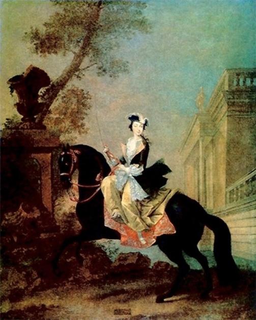 Equestrian portrait of the Grand Duchess Ekaterina Alekseyevna