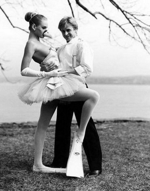 Mikhail Baryshnikov and Uma Thurman