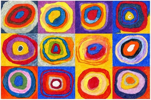 Wassily Kandinsky, Squares with Concentric Circles, 1913