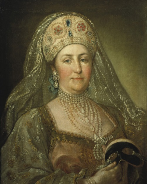 Catherine II in the Russian national costume