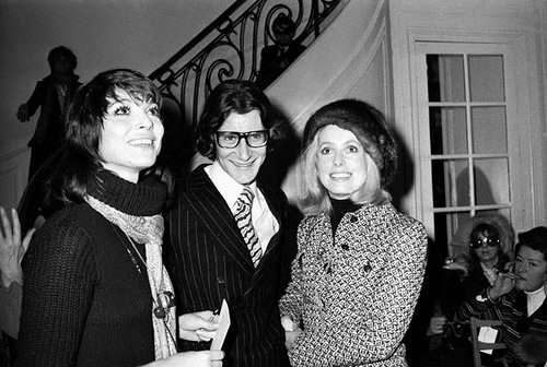 Catherine Deneuve and Yves Saint-Laurent