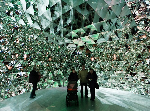 The museum Swarovski Crystal World in Wattens, Austria