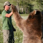 American naturalist Casey Anderson and Brutus the Grizzly bear