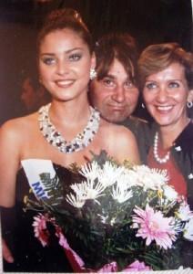 Aleksandra with her parents