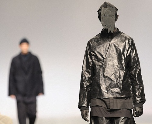 Bin liner chic. MAN again, with more outlandish designs