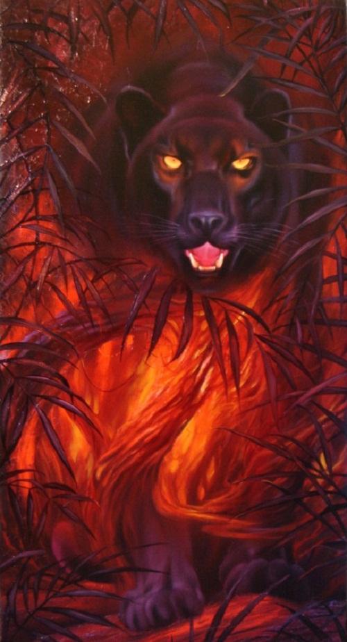 Black panther. Animals by Evgeny Reva