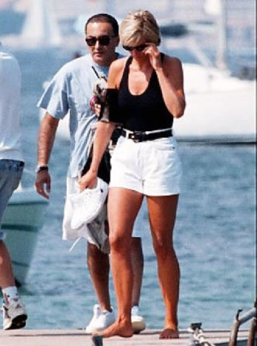 Diana Spencer and Adam Russell in Not to be published photo. Diana and Dodi Fayed